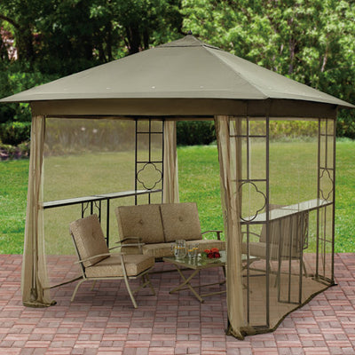 Mainstays Landsdowne Heights Double Shelf Gazebo Canopy