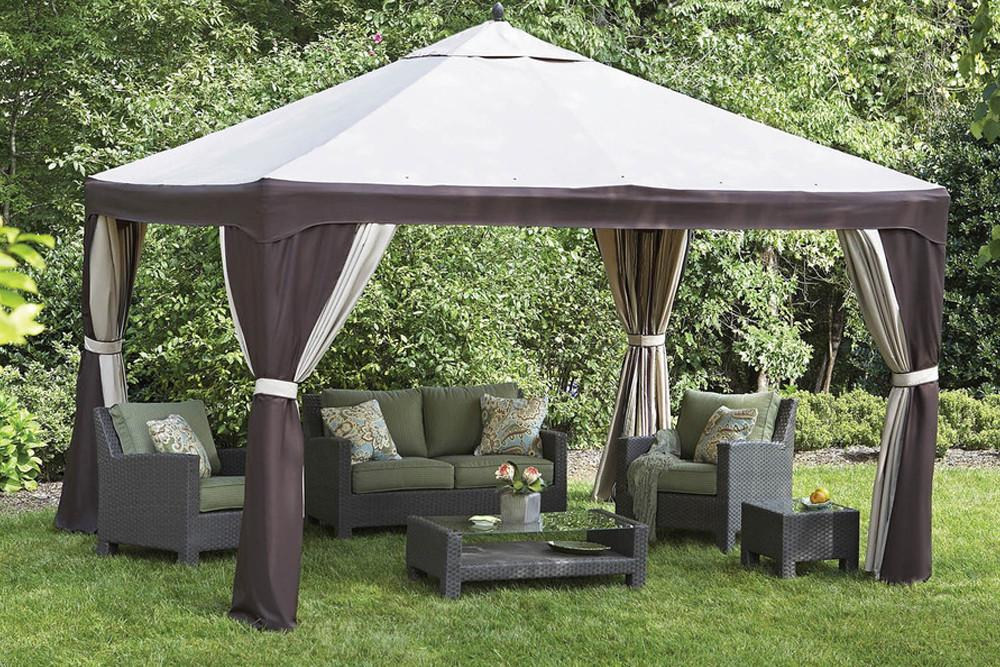Lowes 10x12 Gazebo Sun Panel Set Beige Color The