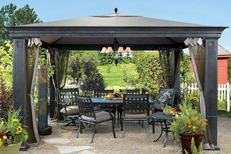 Charming Tiverton Gazebo Replacement Canopy / High Grade