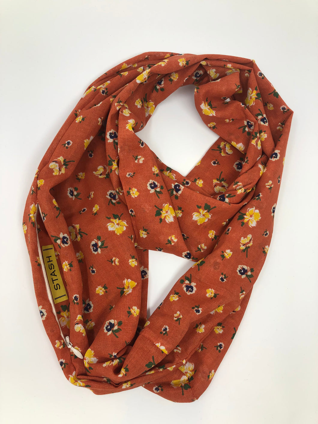 Floral Sunset Infinity Scarf