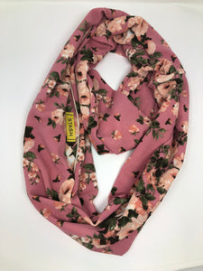 Floral Cotton Candy Infinity Scarf