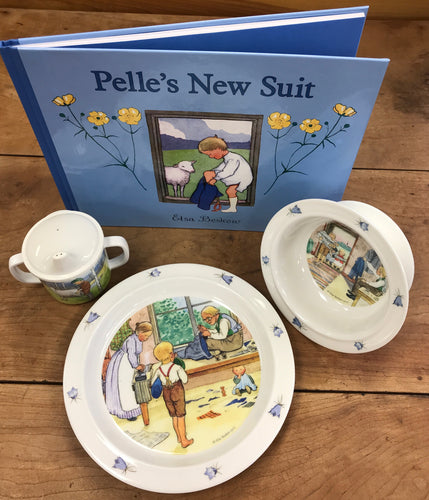 Pelle's New Suit Book and Dish Set