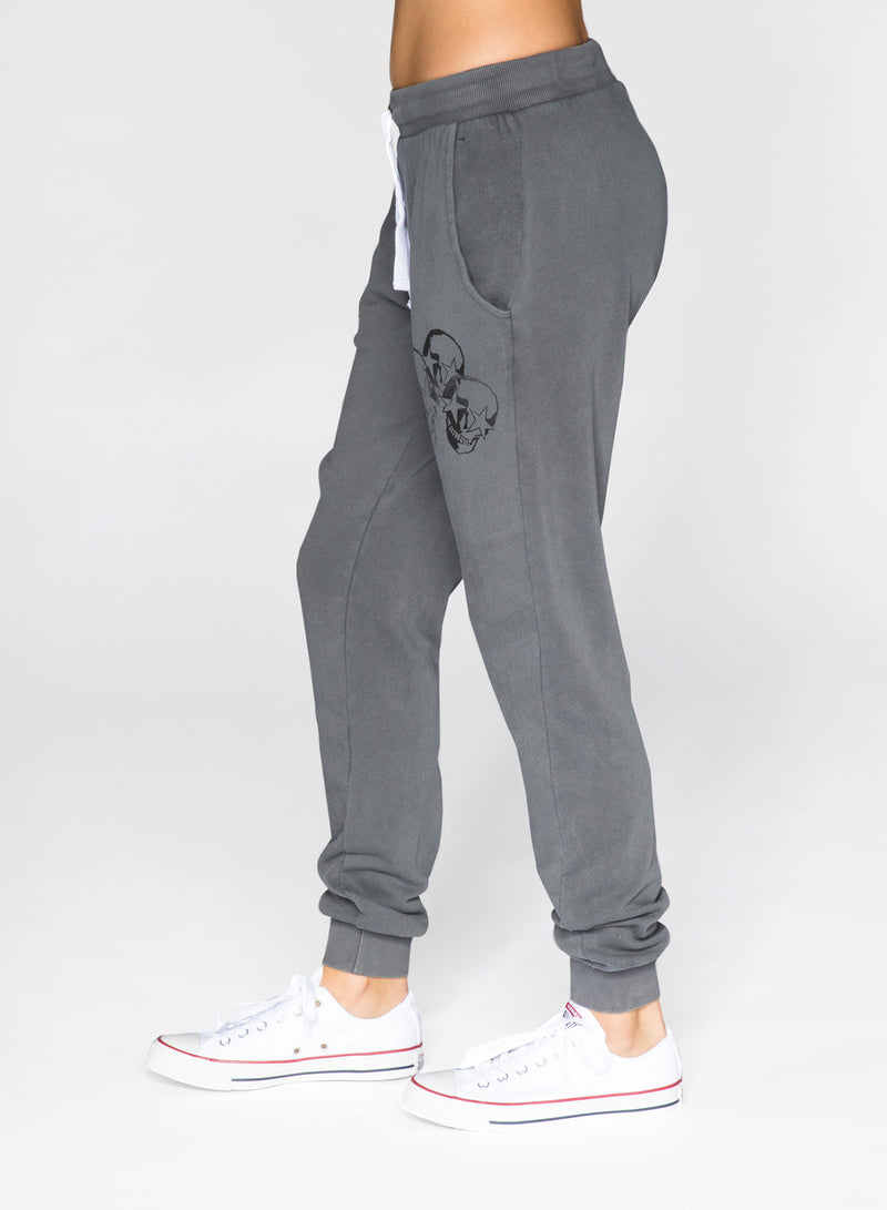 CHRLDR-FADED STAR SKULLS - Flat Pocket Sweatpants