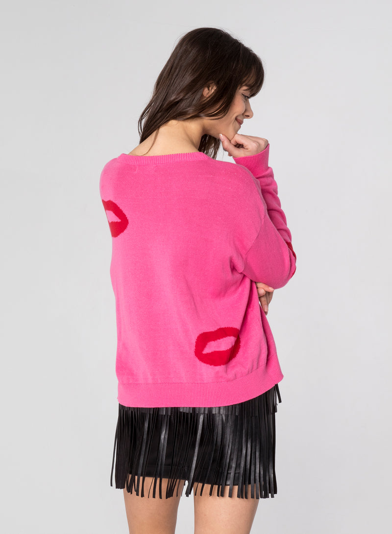 CHRLDR-BIG LIPS - Dropped Shoulder Sweater