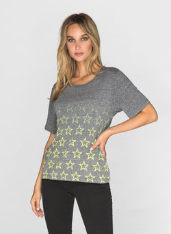 CHRLDR-FADED STARS OUTLINE - Wide T-Shirt