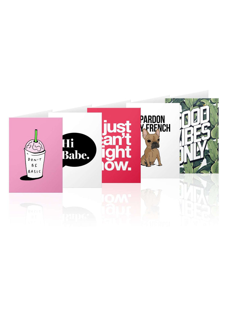 CHRLDR-5-pack assortment Greeting Card