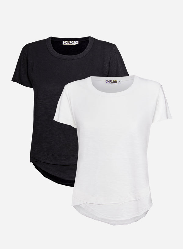 2-PACK of AVA Mock Layer T-Shirt