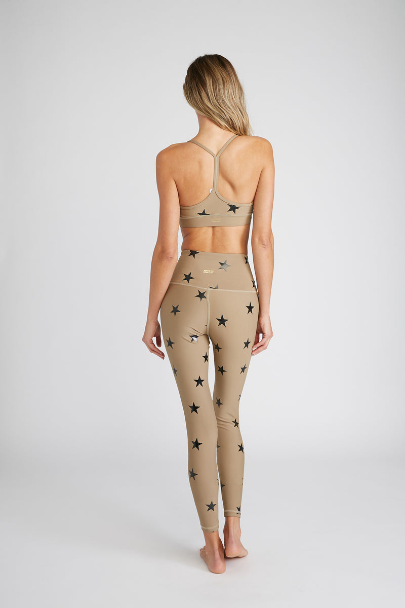 CHRLDR-ANGLED STARS - High Waisted Leggings