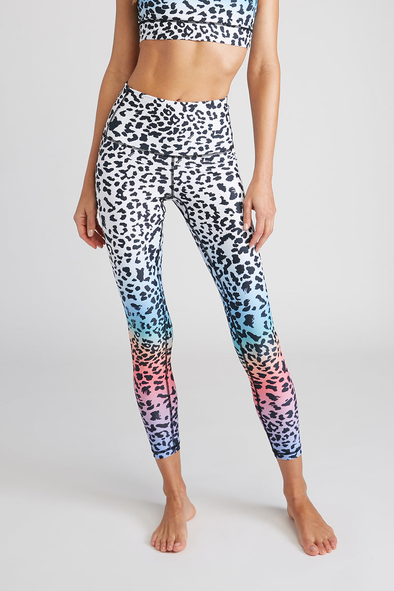 CHRLDR-RAINBOW LEOPARD - High Waisted Leggings