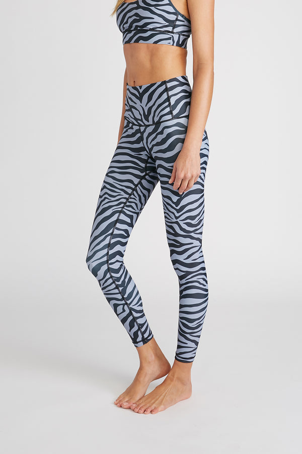 CHRLDR-ZEBRA — High Waisted Leggings