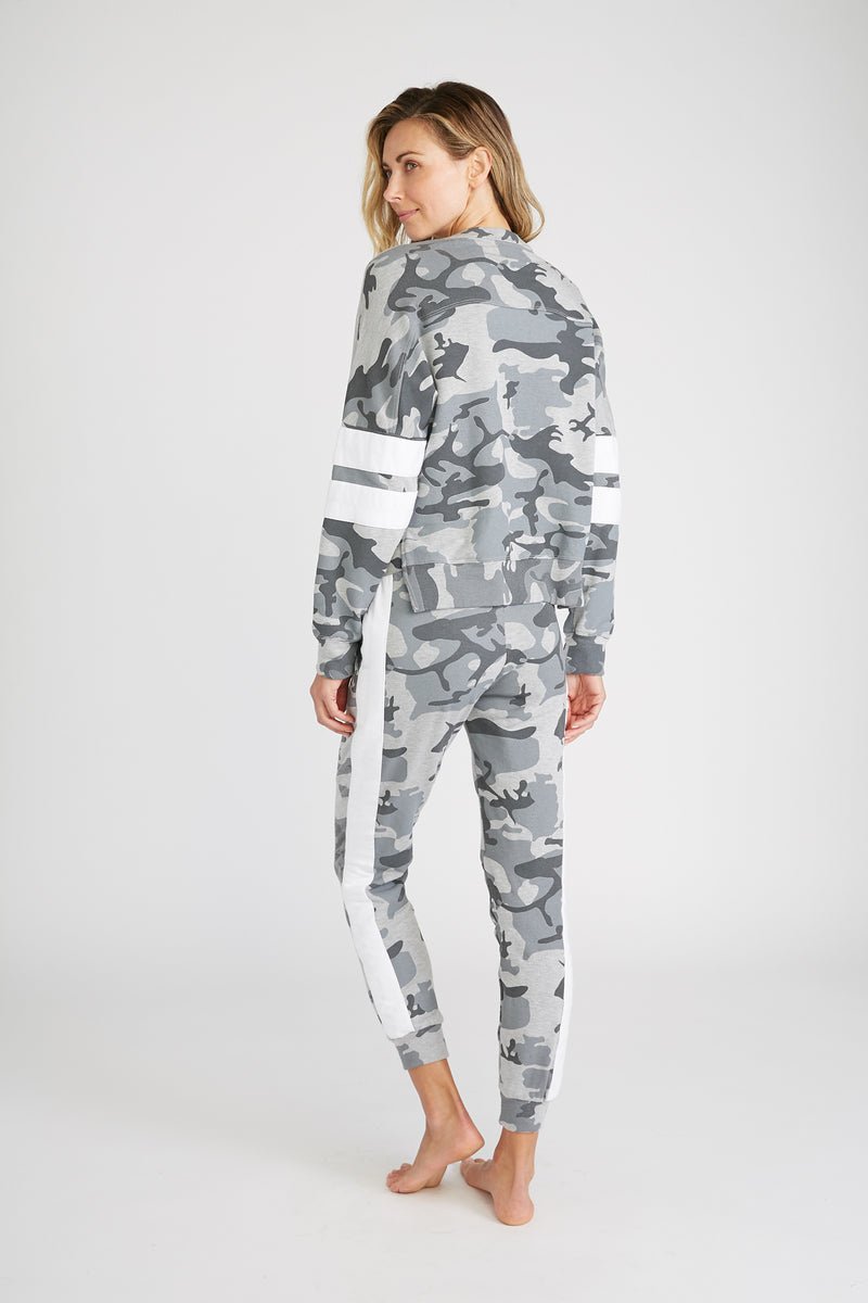 CHRLDR-Camo Stripe Insert — Dropped Shoulder Sweatshirt