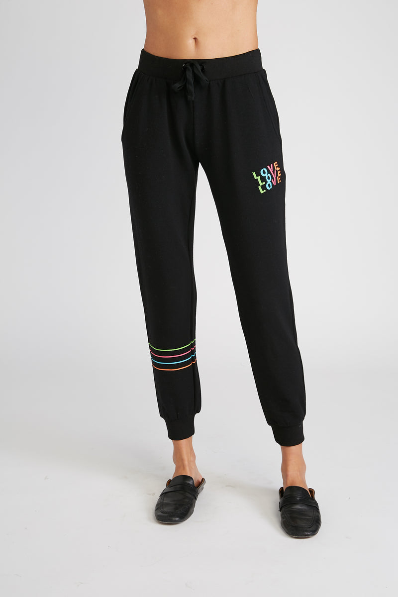 CHRLDR-Love Stripes - Flat Pocket Sweatpants