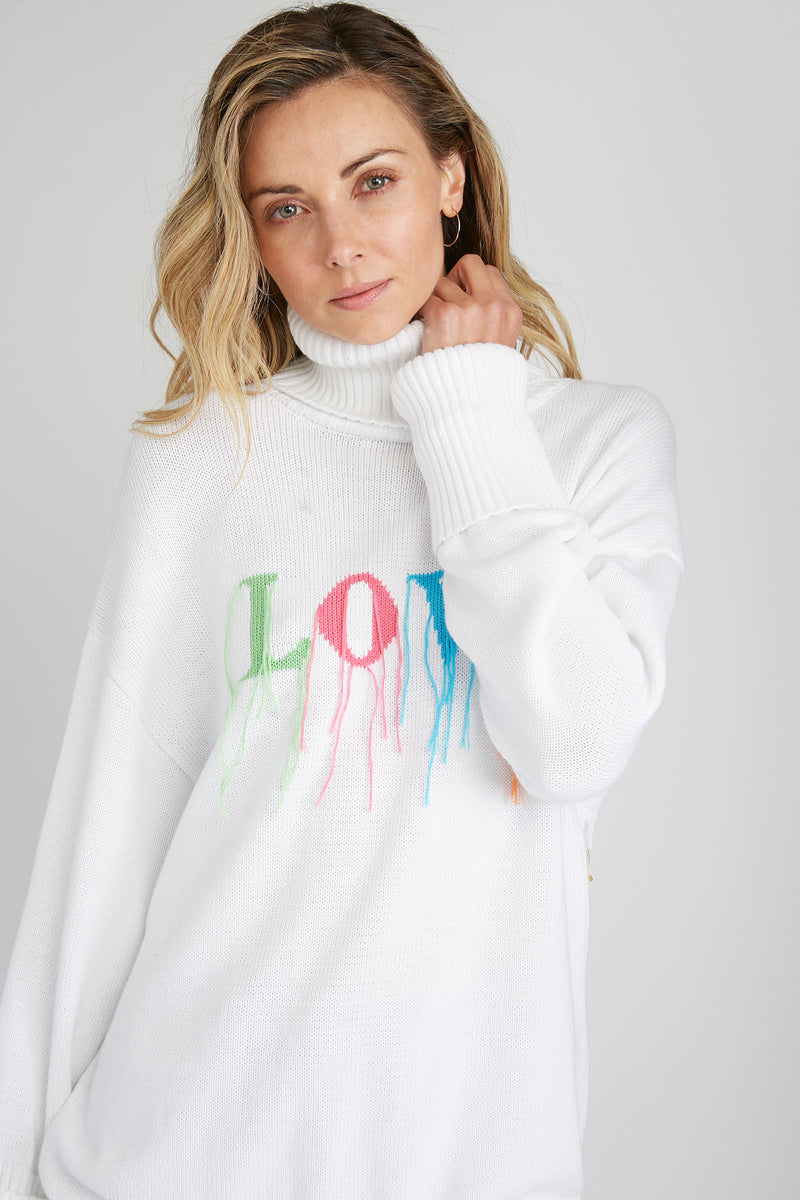 CHRLDR-Fringed Love - Turtleneck Sweater