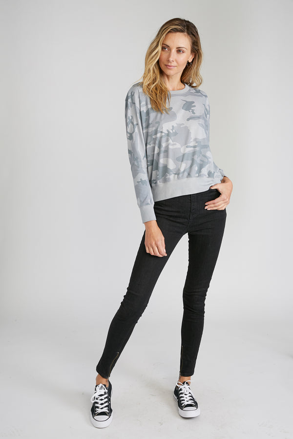CHRLDR-Grey Camo - Long Sleeve T-Shirt
