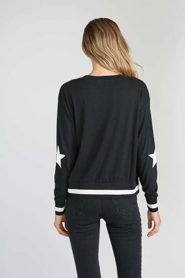 CHRLDR-SLEEVE STARS — Long Sleeve T-Shirt