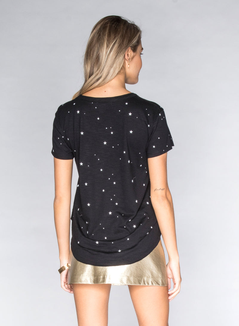 CHRLDR-ALL-OVER STARS - Mock Layer T-Shirt
