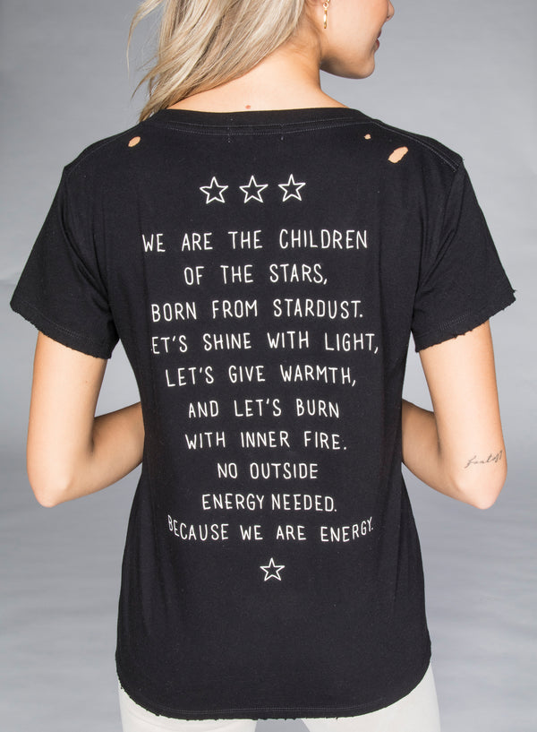 CHRLDR-CHILDREN OF THE STARS - V-Neck Wide T-Shirt