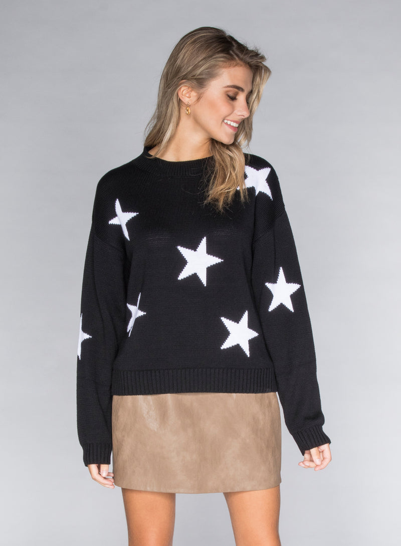 CHRLDR-STARS - Dropped Shoulder Sweater