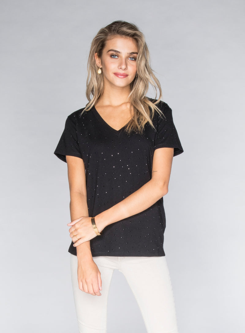 CHRLDR-STUD - V-Neck Wide T-Shirt