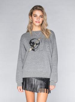 CHRLDR-LOVE - Oversized Crew Neck Sweatshirt