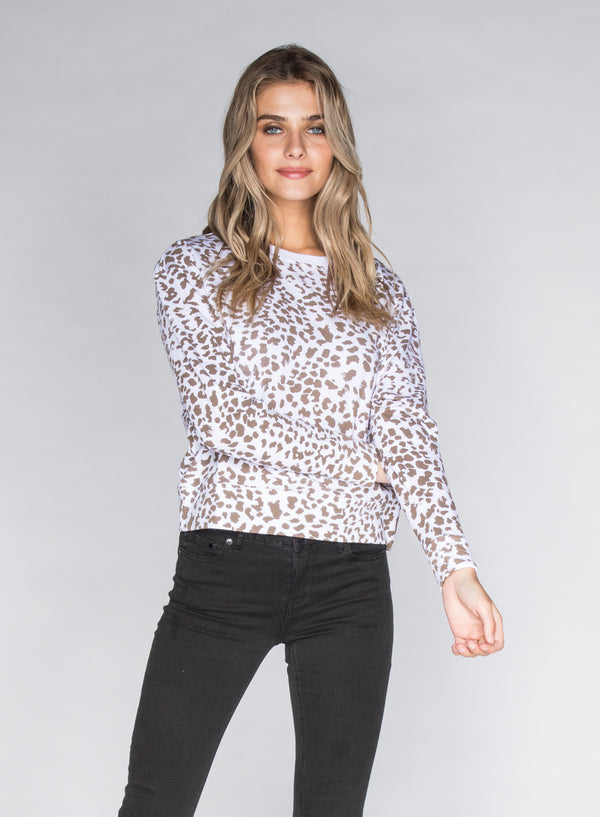 CHRLDR-LEOPARD - Wide Long Sleeve T-Shirt