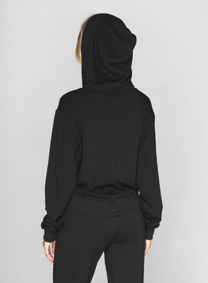 CHRLDR-GOLDEN LIPS - High-Low Zip-Up Hoodie