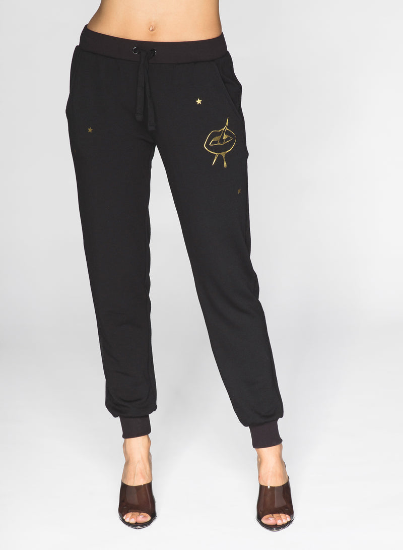 CHRLDR-GOLDEN LIPS - Flat Pocket Sweatpants