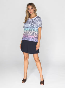 CHRLDR-RAINBOW LEOPARD - Wide T-Shirt