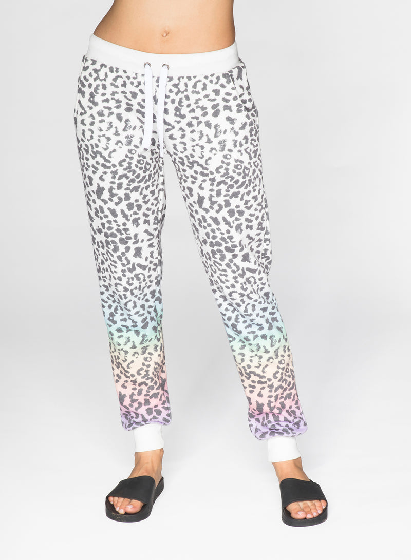 CHRLDR-RAINBOW LEOPARD - Flat Pocket Sweatpants