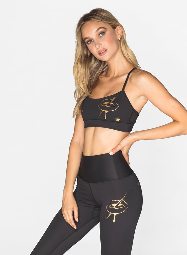 CHRLDR-GOLDEN LIPS - Victory Sports Bra