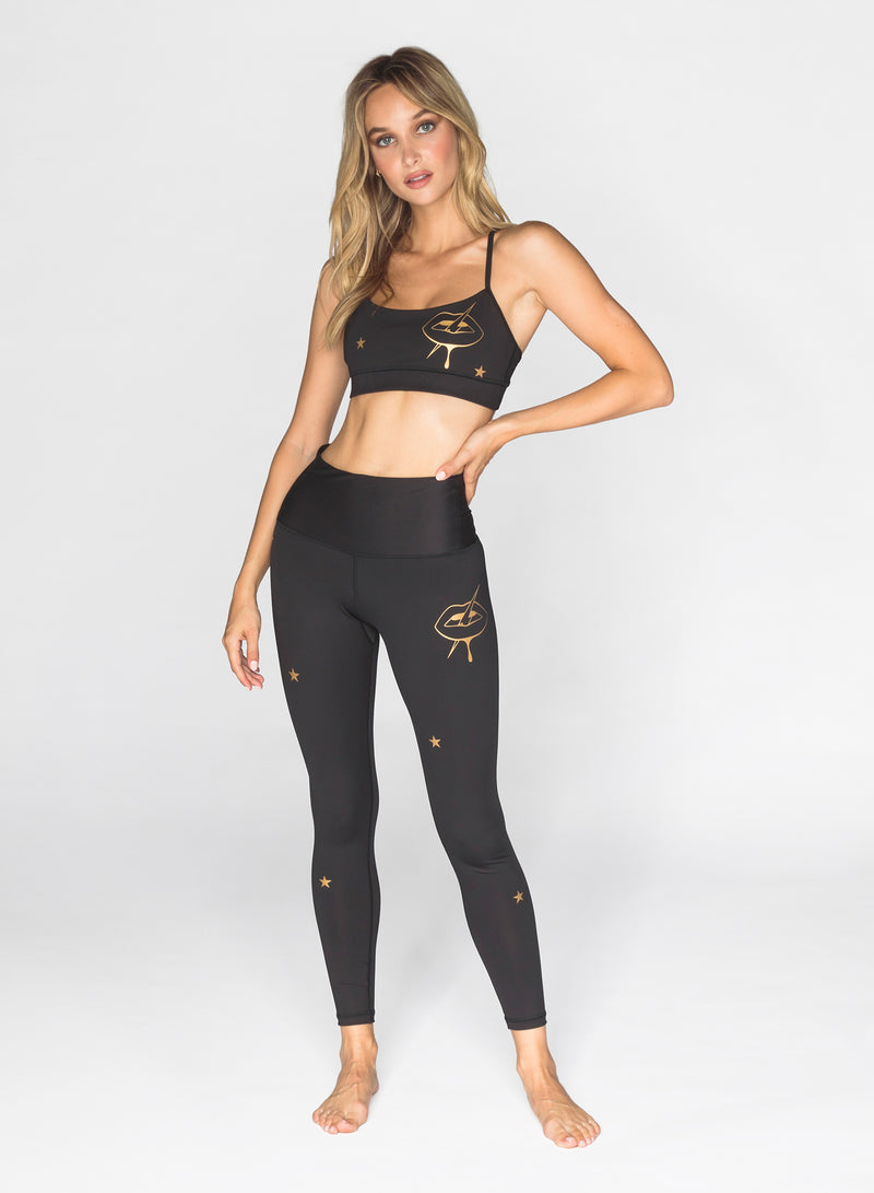 CHRLDR-GOLDEN LIPS - High Waisted Leggings