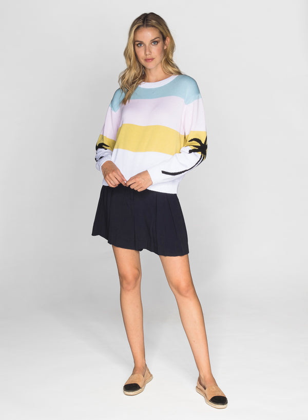 CHRLDR-PASTEL PALMS - Dropped Shoulder Sweater