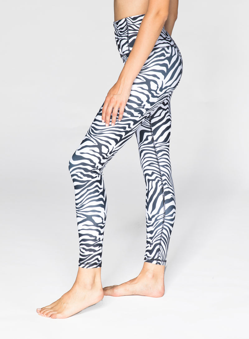 CHRLDR-ZEBRA - High Waisted Leggings