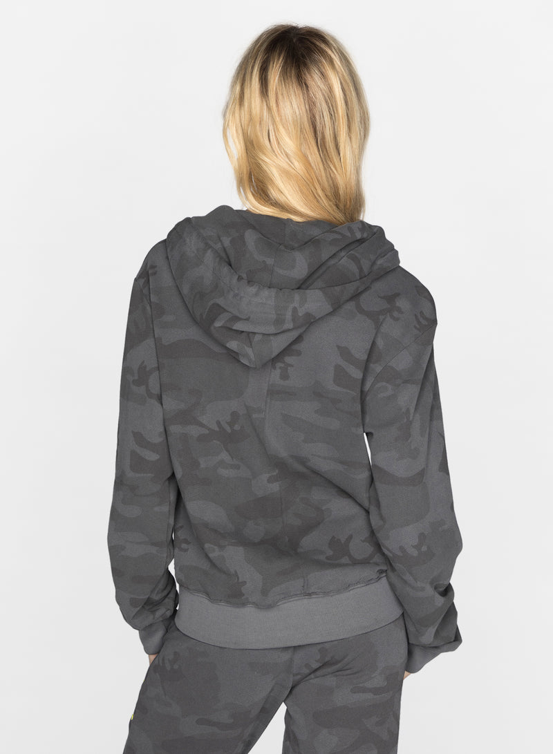 CHRLDR-BLACK CAMO - Zip-Up Hoodie