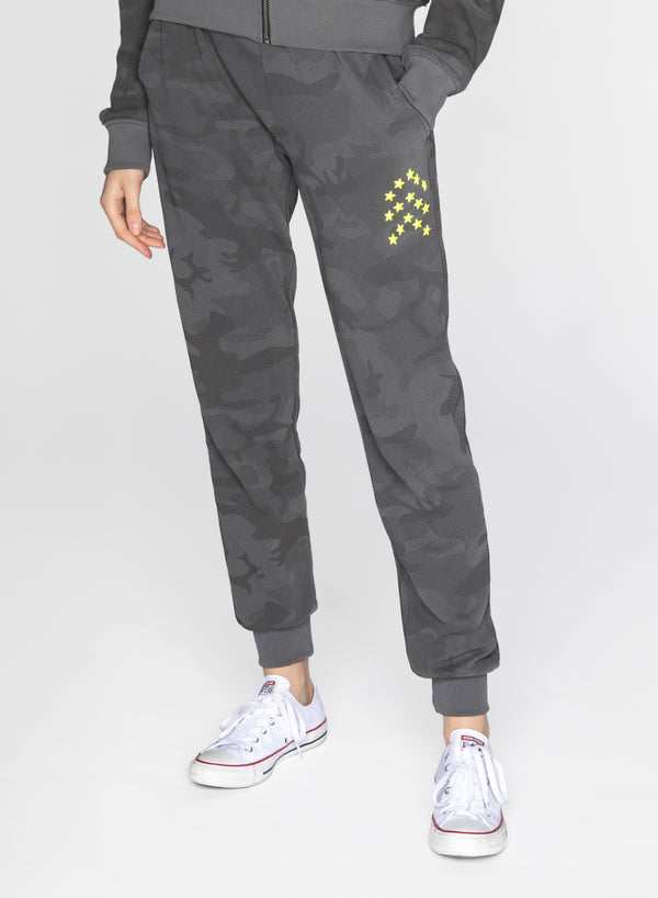 CHRLDR-BLACK CAMO - Flat Pocket Sweatpants