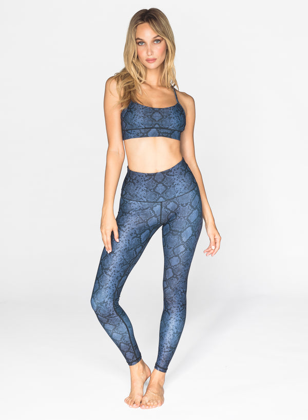 SNAKE SKIN — Leggings + Sports Bra
