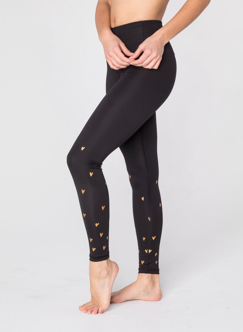 CHRLDR-DOODLE HEARTS - High Waisted Leggings