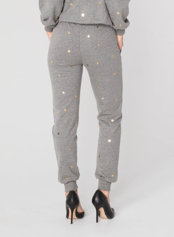 CHRLDR-GOLD SCATTERED STARS - Flat Pocket Sweatpants