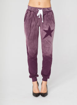 CHRLDR-ASYMMETRICAL STAR STENCIL - Flat Pocket Sweatpants