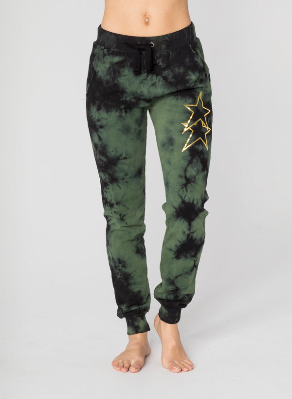 CHRLDR-ASYMMETRICAL STARS - Flat Pocket Sweatpants