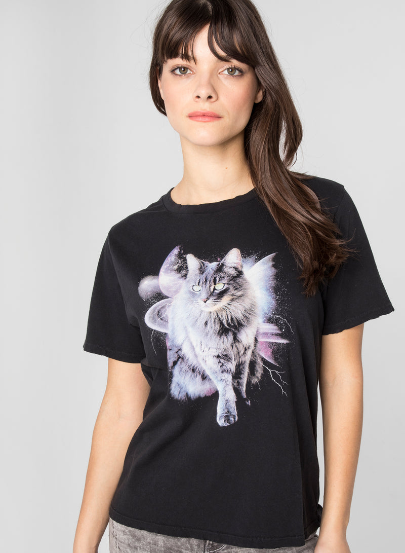 CHRLDR-SPACE CAT - Wide T-Shirt