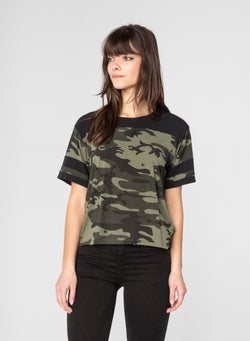 CHRLDR-STAR CAMO - Football T-Shirt