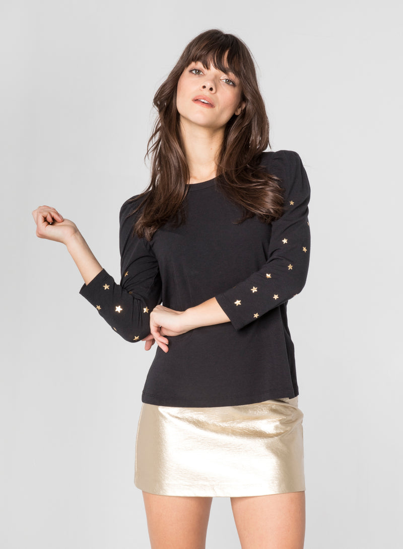 CHRLDR-GOLD SCATTERED STARS - Puff Long Sleeve T-Shirt