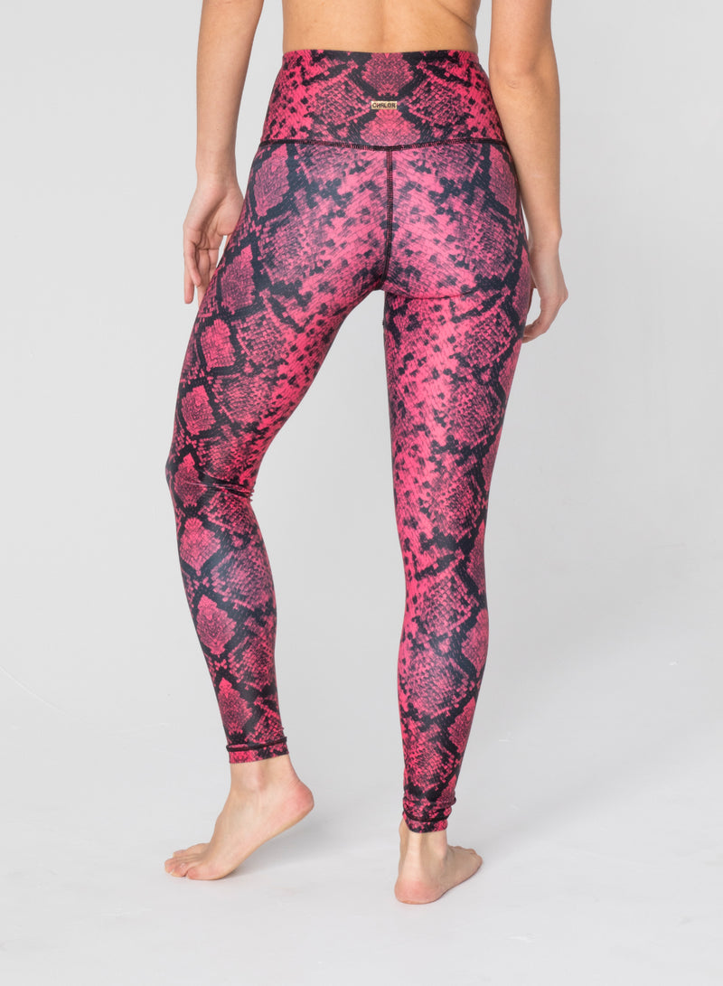 CHRLDR-SNAKE SKIN - High Waisted Leggings