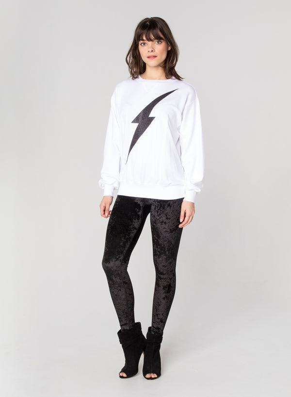 CHRLDR-LIGHTNING BOLT - Oversized Crew Neck Sweatshirt