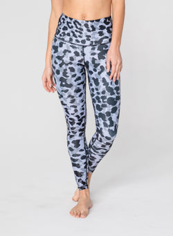 CHRLDR-GREY LEOPARD - High Waisted Leggings