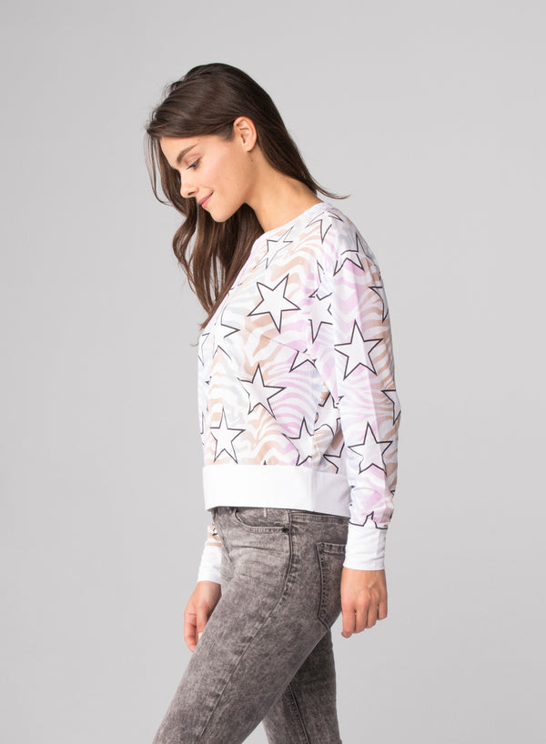 RNBW ZEBRA STARS - Long Sleeve T-Shirt