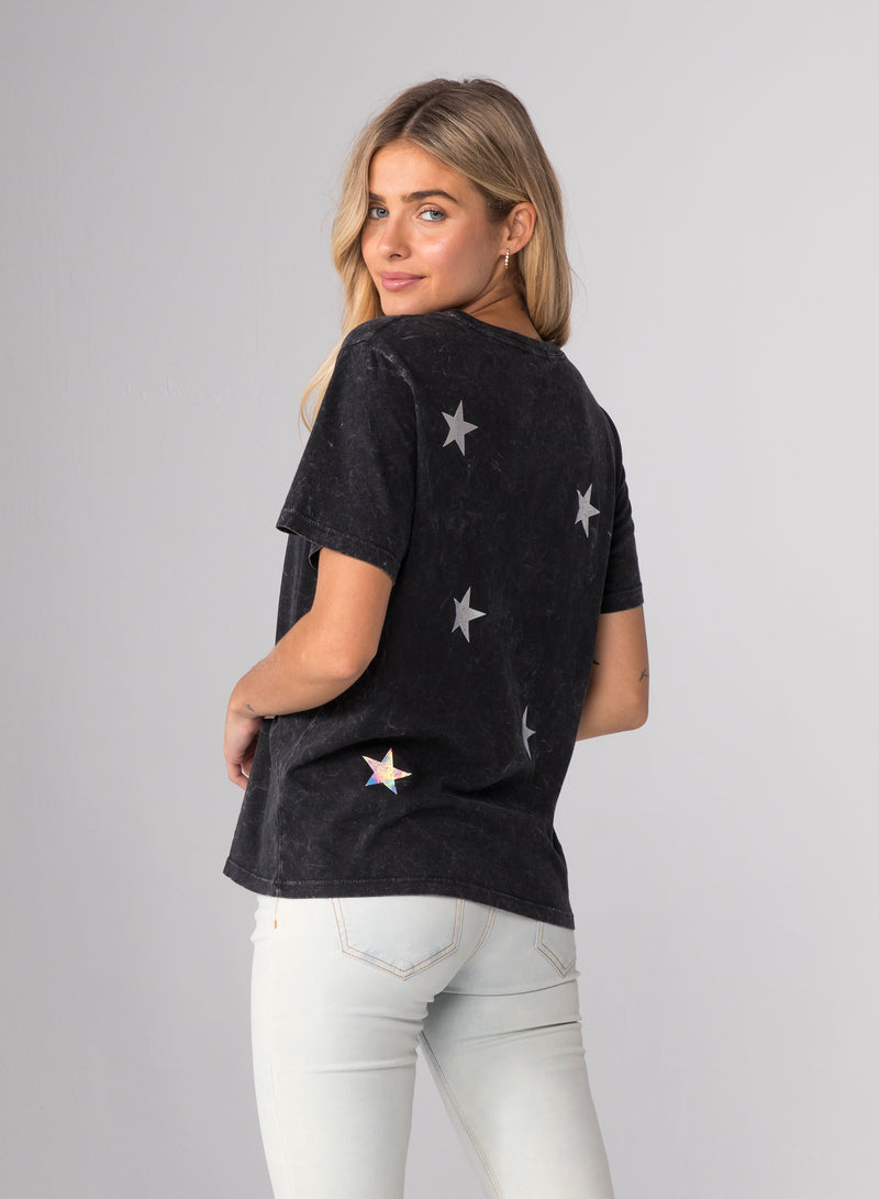 HOLOGRAPHIC STARS - Wide T-Shirt