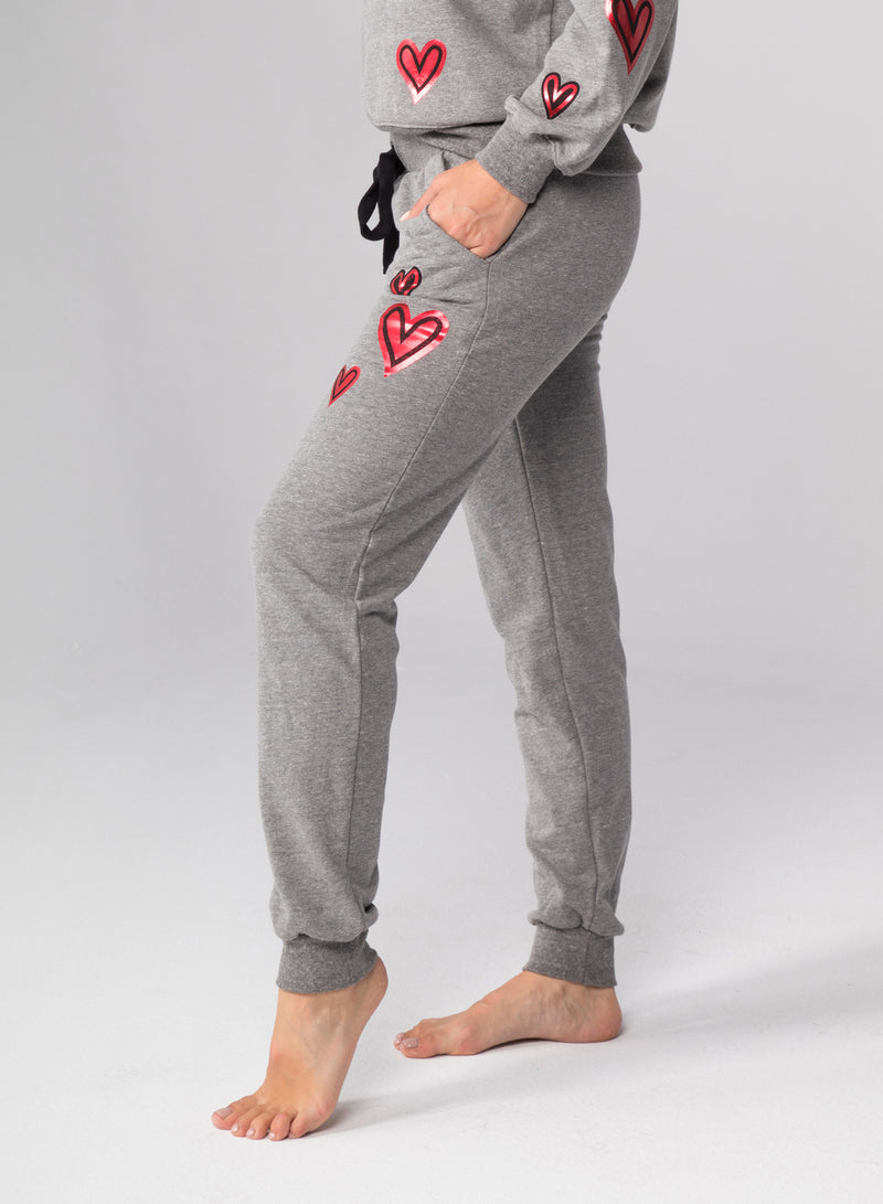 2COLOR HEARTS - Flat Pocket Sweatpants