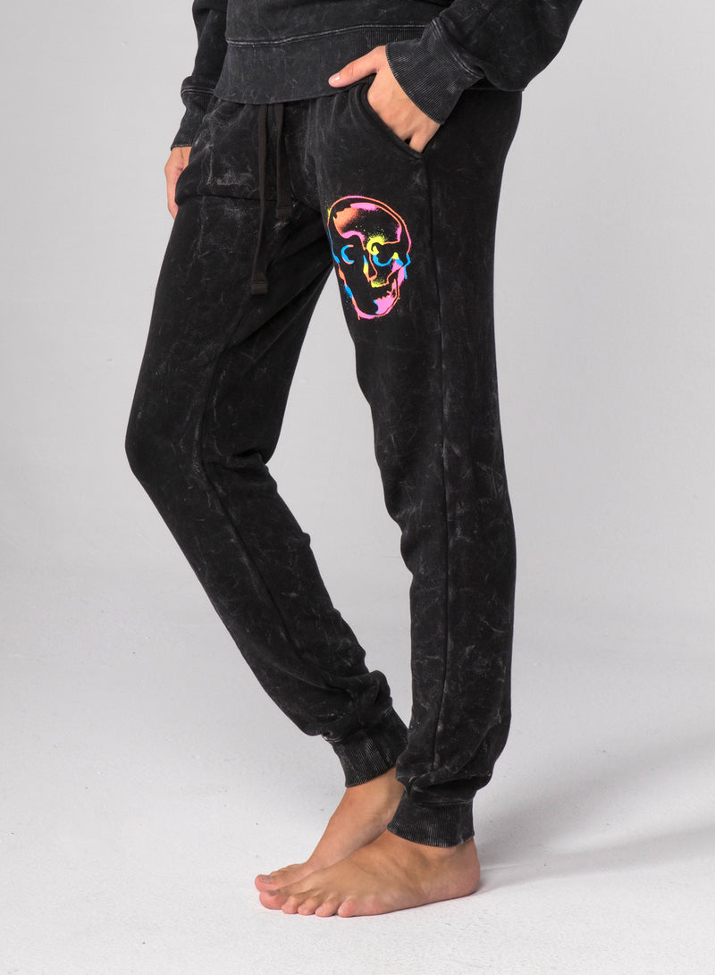 SKULL SPRAY - Flat Pocket Sweatpants